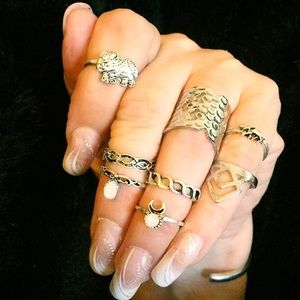 Jewelry - Boho rings silver tone