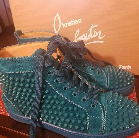 23cffdc1926 Christain louboutin men high top sneakers