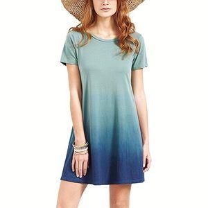 Dresses & Skirts - 🦋Turquoise Ombré Ocean Tie Dye Dress,S-3XL