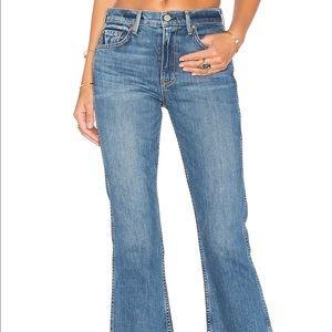 Grlfrnd Joan Crop Flare Jean size 27