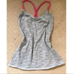 Lululemon black and gray tank. Size 6