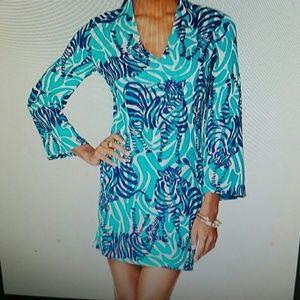 Lilly Pullitzer Zebra Print Sheath V Neck Dress
