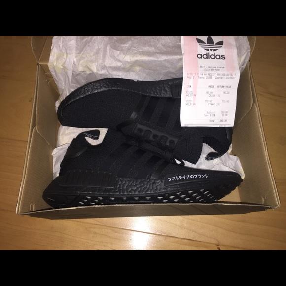 Adidas zapatos Triple negro NMD talla 10 poshmark Japón Pack R1 PKS