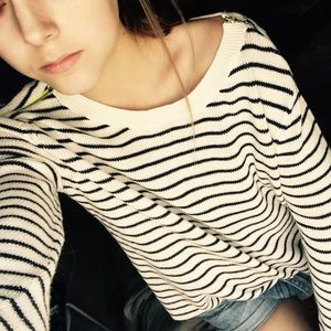Aesthetic Knit Striped Sweater
