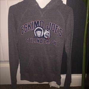 Gray Small Eskimo Joes Hoodie