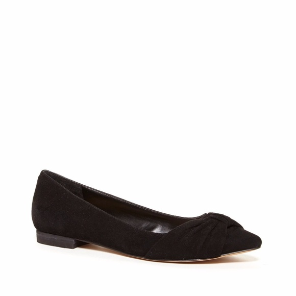ef58fa2dfbe Sole Society Aamira Ruched Suede Black Flats