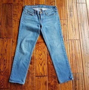 Jcrew toothpick crop jeans