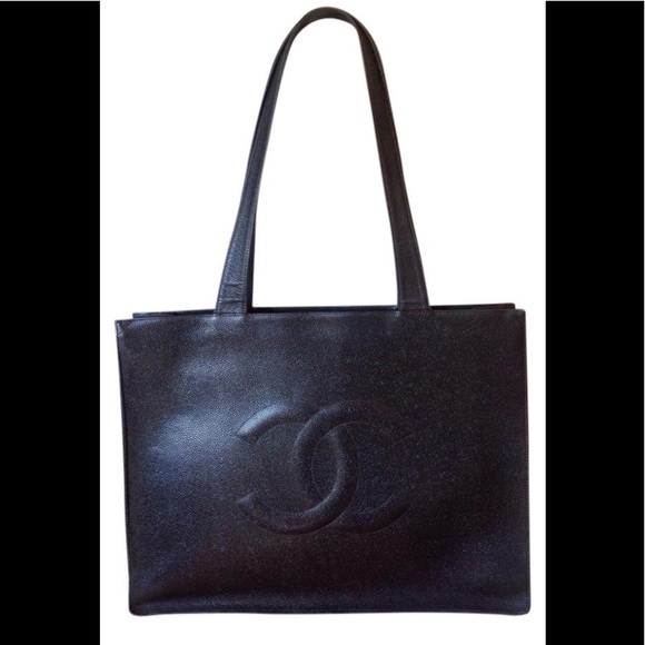 1f2278a1d8a8 CHANEL Handbags - CHANEL CC Logos Jumbo XL Tote Bag Caviar Leather
