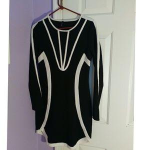 Geometric style Black & White dress
