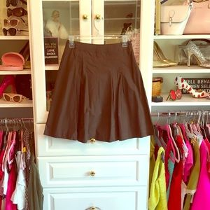 Chocolate brown structured. A line business skirt