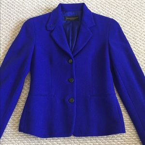 Donna Karan wool blend jacket, purple