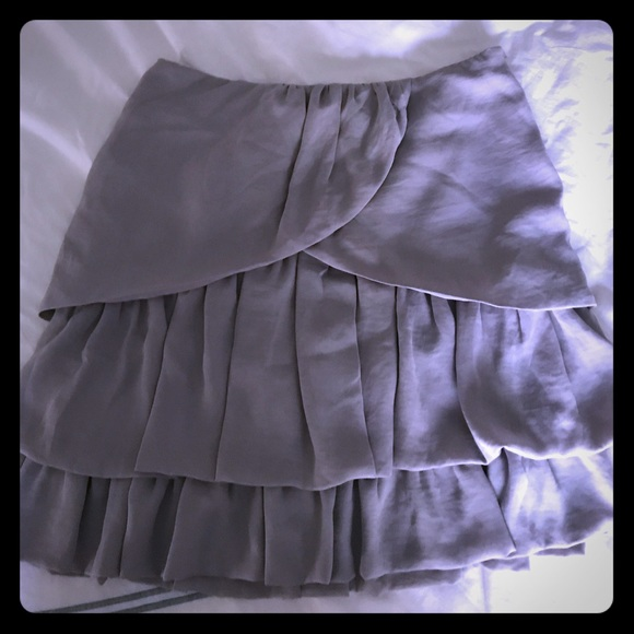 Banana Republic Dresses & Skirts - Grey ruffles short skirt