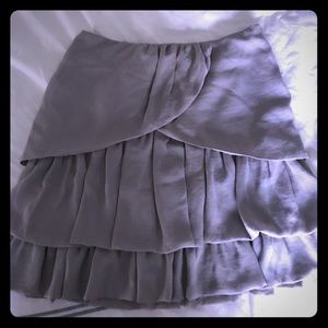 Grey ruffles short skirt
