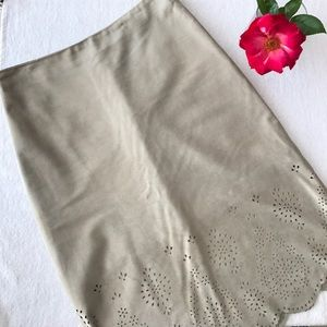 Dresses & Skirts - Banana Republic Suede Skirt BOHO