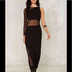 M-46 on your side mesh maxi dress