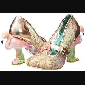 Irregular choice flamingo heels