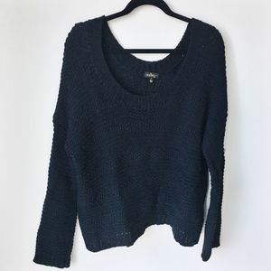Sweaters - Boutique Black Knit Oversized Cute Snuggly Sweater
