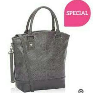 Handbags - Thirty One Paris Grey Snakeskin
