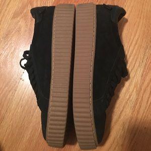 J/Slides Shoes - J Slides black suede sneakers