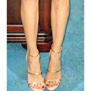 69eff84c62c bebe Shoes - BEBE BERDINE GOLD STRAP STILETTO HEEL SANDALS. NEW