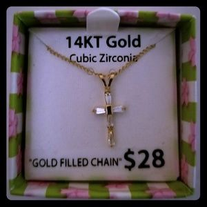 14kt Gold Cross Necklace