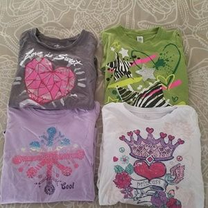 Lot of 4 girl's long sleeved shirts size 7/8