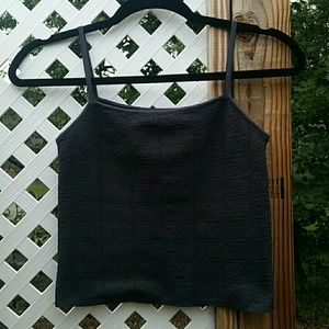 Tops - Knitted Cropped Tank
