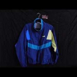VTG Avia Color Block Windbreaker Half Zip Jacket