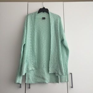 • Sparkle and Fade • Mint Green Open Cardigan NWOT