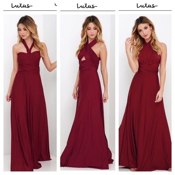 71ce79bb96c Lulu s Dresses   Skirts - lulus burgundy multiway bridesmaid ...