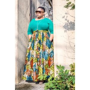 Dresses & Skirts - Ankle Length Cotton Skirt (SaseeChic collection)