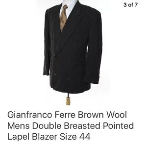 Gianfranco Ferre Suits & Blazers - GIANFRANCO FERRE DOUBLE BREASTED  SIZE 44
