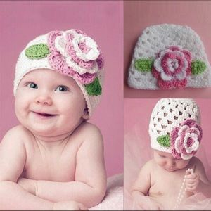 Other - Newborn Knit Flower Hat