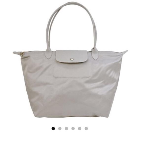 half off 42619 a082f Longchamp Handbags - Longchamp Le Pliage Neo Pebble Gray tote bag Large