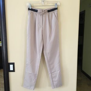 Pants - Drawstring Khaki trousers