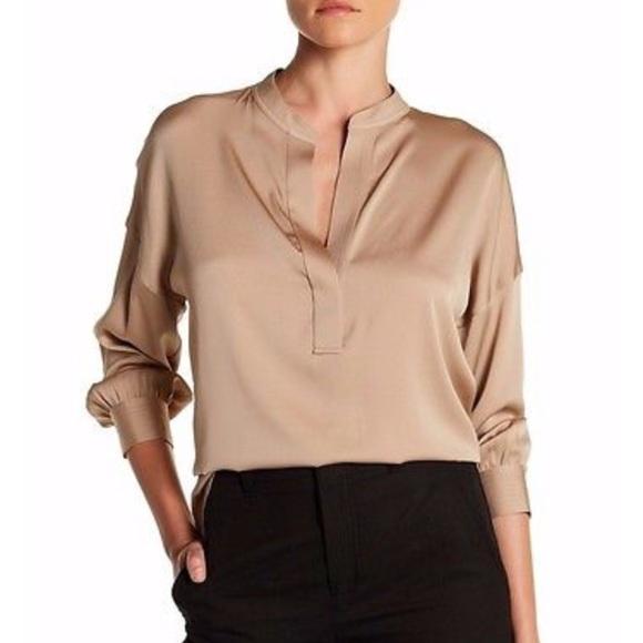 38e4cb24816dea Vince Shirred Drape Pullover Silk Blouse Medium. M_599244c7d14d7b00d417b009