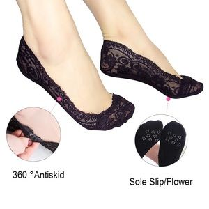 Accessories - Women's Lace Invisible liner Socks