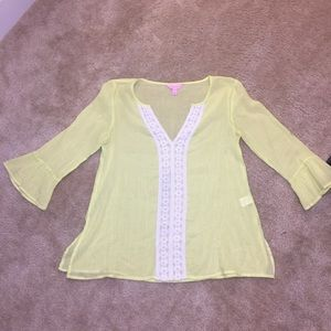 Lilly Pulitzer beach coverup top