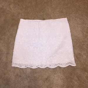 Lilly Pulitzer white mini skirt