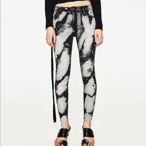 Zara paint splatter print jeans 2017
