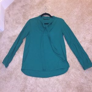 Zara emerald green cotton blouse