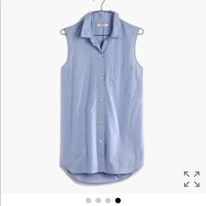 madewell sleeveless button up