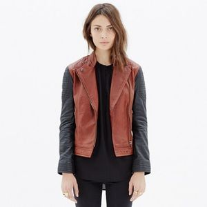 Madewell XS Leather Quilted backroads jacket