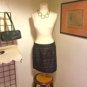 J. Crew Metallic Weave Mini Skirt Size 10