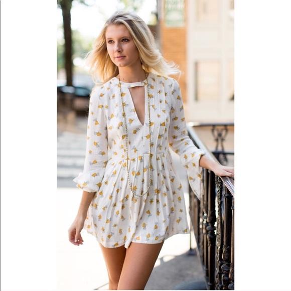 a509dabe57f6 NWT Free People Tegan Babydoll Floral Dress