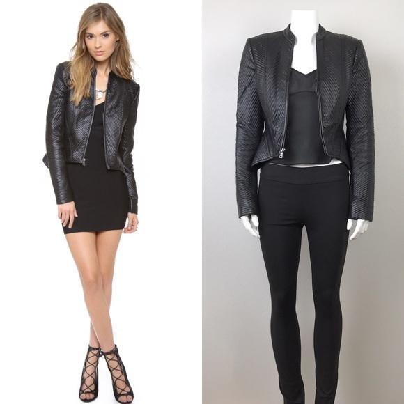 51c44944a1b1f BCBGMaxAzria Jackets & Blazers - BCBGMaxAzria Jagger Black Faux Leather  Jacket