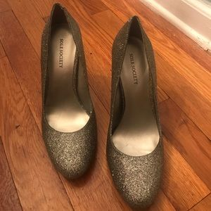 BRAND NEW sole society glittery heels size 8