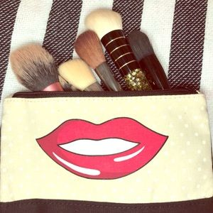 Other - Brush Set with Make Up bag