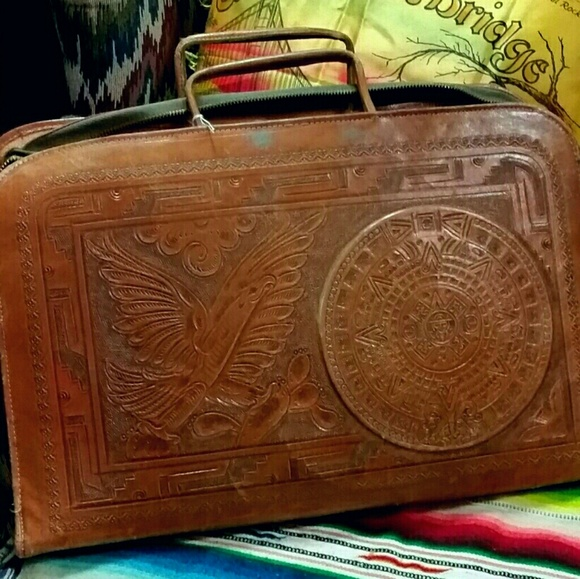 Vintage Tooled Leather Laptop Briefcase Mexican. M 59926a81a88e7dfba319149d 25db93aa859d0
