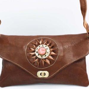 Handbags - Leather Handcrafted Clutch/Crossbody HM0036